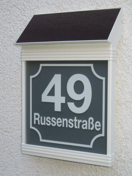 beleuchtete Hausnummerierungen