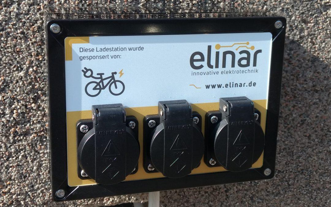 erste kostenfreie Fahrradladestation in Wilkau-Haßlau!